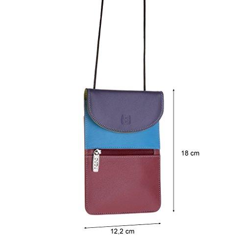 Dudu - Sac porté épaule en cuir - Colorful Collection - Barbara - Violet