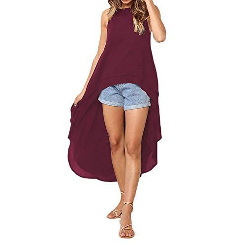 Bluelucon Damen Herbst-Winter-tägliche Art-Frauen-Lange Hülsen-Feste unregelmäßige dünne Datierungs-Sweatshirt-Pullover-Oberseiten-Blusen-Hemd Outwear-Pullover