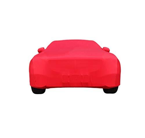 Autoabdeckung Kompatibel mit AMG E63S Spezielle Autoabdeckung Staubdicht und Kratzfest Verdickung Underground Garage Car Show Indoor Mit elastischer Baumwolle Autoabdeckung (Color : Red)