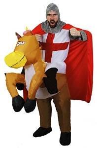 Kostüme Pferd Jockey Erwachsenen (BATTERIE SELBST AUFBLASENDES KOSTÜM FÜR EINE