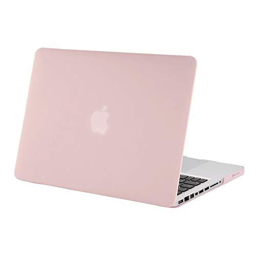 MOSISO Custodia Rigida Compatibile con Vecchio MacBook PRO 13 Pollici A1278(Versione anticipata 2012/2011/2010/2009/2008),Plastica Caso Compatibile MacBook PRO 13 Pollici con CD-Rom,Quarzo Rosa