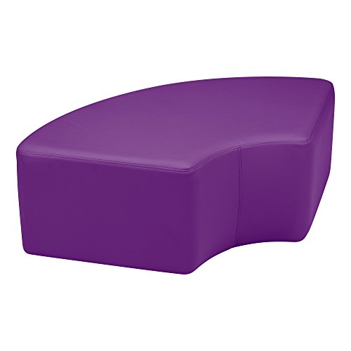 Sprogs Kids Vinyl Soft Seating Curved Stool, 12