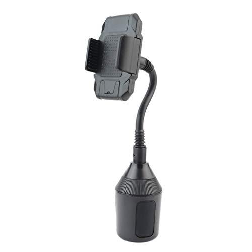 Luckhome Universal Verstellbarer Cupholder-Autohalter für Handys CupFone Einstellbare Autohalterung für Getränkehalter Handyhalter fürs Auto Handyhalterung Auto Kratzschutz (Schwarz)