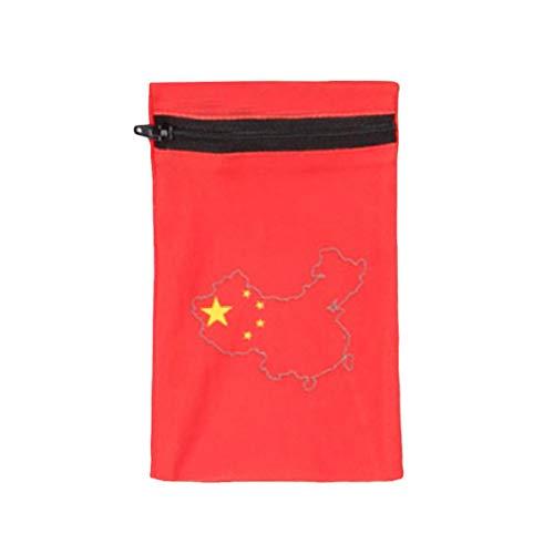 Vaycally Sport-Armband Brieftasche Reißverschluss Schweißband mit Tasche Armband Schlüsselhalter Geeignet für Männer Frauen Perfekt für Laufen, Training im Fitnessstudio, Wandern, Reisen -