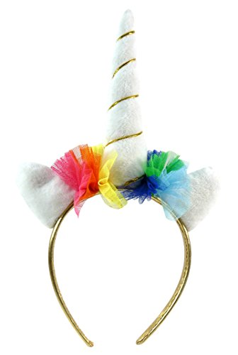 Toller Haarreif ~ Einhorn ~ Haarreifen Unicorn Haarschmuck Karneval (No Name Kostüm)