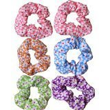 Floral Cotton Hair Scrunchies Daisy Print (FREE DELIVERY) Assorted Colours by Shropshire Supplies
