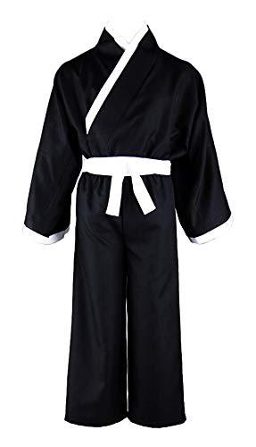 Ichigo Shinigami Kostüm - Chong Seng CHIUS Cosplay Costume Outfit for Kurosaki Ichigo Shinigami Black Male Kimono V3