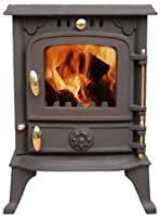 "Sale This Month Only 50% Off ""Cambridge"" 4 kw ""Clean Burn"" Wood Burning Multifuel Stove 2014 Model …"