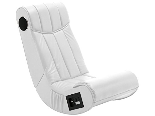 Gaming Chair SOUNDZ Spielsessel Musiksessel Design Soundsessel Lederlook weiß