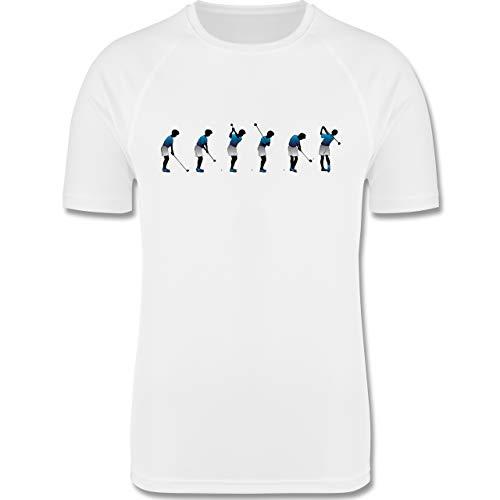Sport Kind - Golf Abschlag - 128 (7-8 Jahre) - Weiß - F350K - atmungsaktives Laufshirt/Funktionsshirt für Mädchen und Jungen