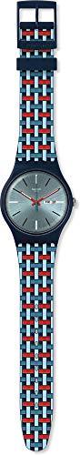Swatch Reloj Analógico para Hombre de Cuarzo con Correa en Silicona SUON710