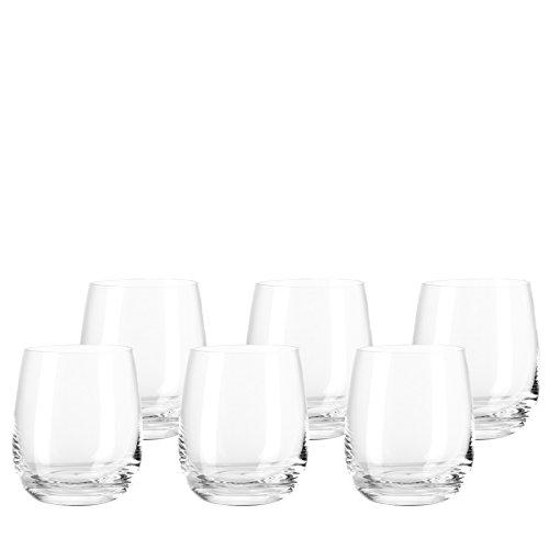 Leonardo Tivoli Becher klein, 6-er Set, 360 ml, spülmaschinenfest, Teqton-Kristallglas, 020960 - Gläser Wasser Trink