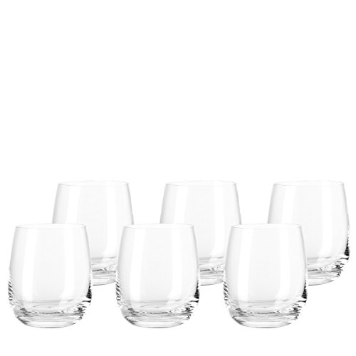 Leonardo Tivoli Becher klein, 6-er Set, 360 ml, spülmaschinenfest, Teqton-Kristallglas, 020960 Soft-drink-glas
