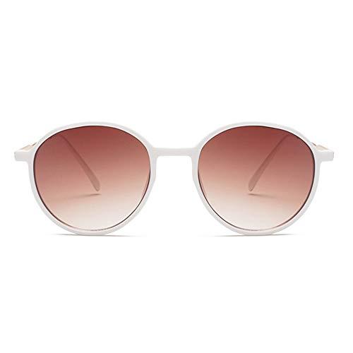 @W.H.Y Big Box Sonnenbrille Retro Semi-Metal Round Frame Transparente Ocean Piece Sonnenbrille Grenzüberschreitende Sonnenbrille,E