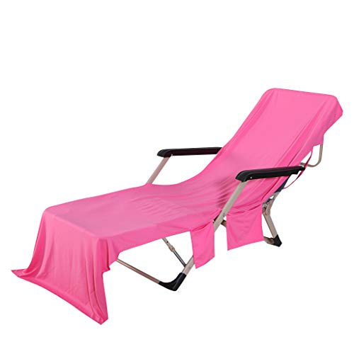 Dkings Strandkorbbezug, Chaise Lounge Handtuchüberzug für Pool, Sonnenliege,Hotel Urlaub mit Aufbewahrungstaschen,Handtuch Strandkorbüberzug Chaise Lounge für Poolsonnenliegen, 82.5 ''x 28'' (Pink) -