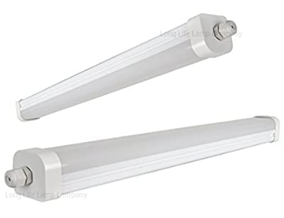 36W 4ft Industrial LED Batten Tube Light Surface Mount or Hanging IP Rated Triproof Fittng in Cool White T8 Fluorescent Replacement Home or Commercial Use - inexpensive UK light store.