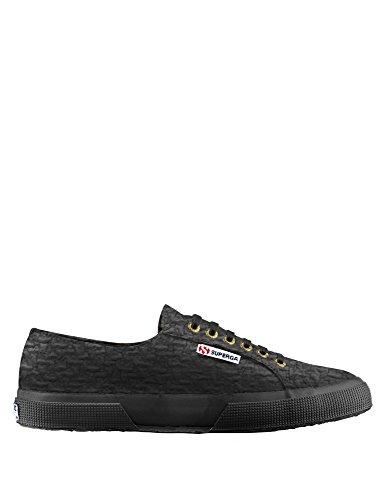 Superga - 2750 Cotbouclerbrw, Sneaker Donna Black