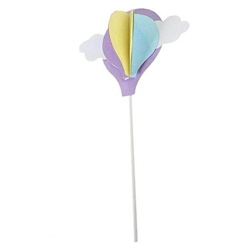 Kuchen-Deckel Dekoration Wolke Luftballon Stock-Geburtstags-Karte Einfügen Flagge Kreative Dekoration Backen Halloween Für Kuchen Dekor Lila