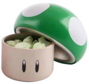 Preisvergleich Produktbild Super Mario Bros. Nintendo Sours / Saure Bonbons: 1-Up Pilz / Mushroom (Apfel-Geschmack)