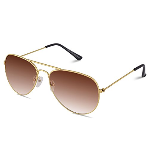 Laurels Aviator Unisex Sunglasses(Ls-Mrsl-090606_57_Brown)