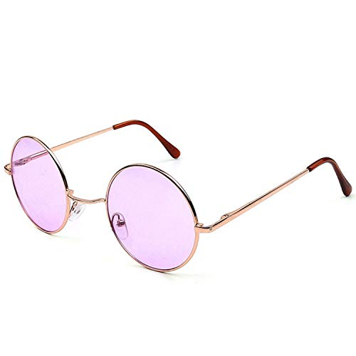 WERERT Sportbrille Sonnenbrillen Candy Color Round Sunglasses Women Fashion Sun Glasses Women Mirror Classic Vintage Uv400
