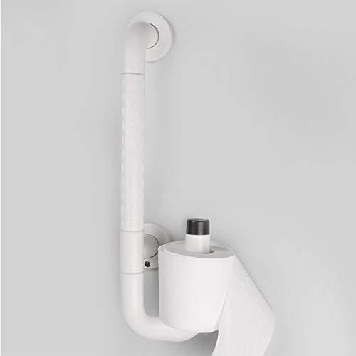 HDGZ Praktische PVC-Haltegriffe für das Badezimmer Rutschfester Handlauf aus Edelstahl zum Baden und Duschen in Toilettenkleiderbeuteln oder Geschenkschrauben aus Toilettenpapier