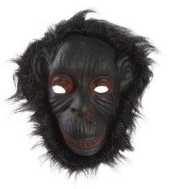 Bada Bing Maske Affe Gorilla schwarz Kostüm Verkleidung Karneval
