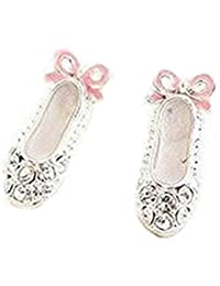 Fashion Lovely Cute Ballet Shoes Bowknot Stud Earrings