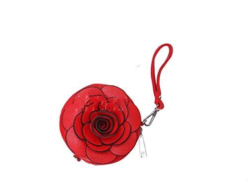 Yy.f Neue Tasche Hält Blumen Apfel Handytasche ändern Schlüsseletuis Mini-Handtasche Umhängetasche. Multicolor Red