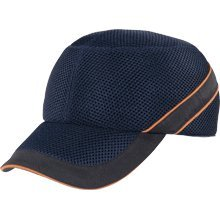 Panoply Air Coltan Safety Bump Cap Baseball Hat - Navy with Black Trim and Orange Piping Test