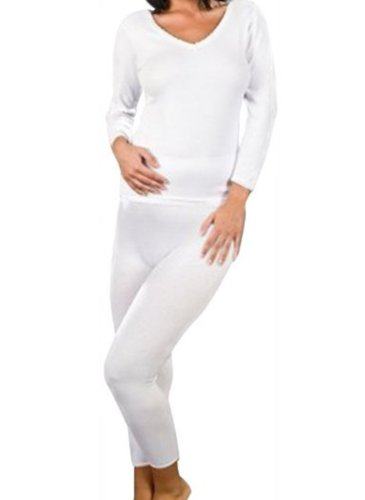 abea847d59bf54 Ladies Brushed Thermal Underwear Long Sleeve Vest & Long Johns ...