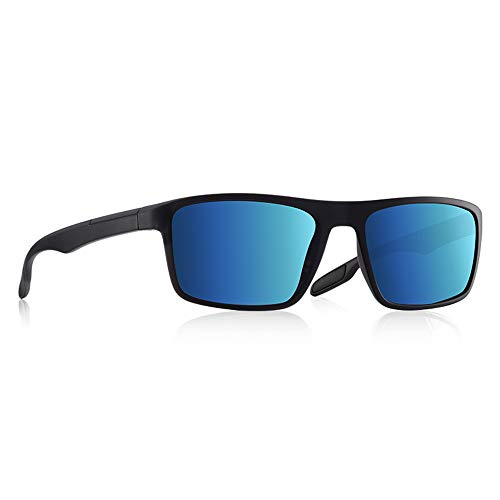JU DA Sonnenbrillen Ultraleichte Tr90 Polarisierte Sonnenbrille Männer Treiber Schattierungen Männliche Vintage Sonnenbrille Für Männer Spuare Brillegas De Sol C6Matte Blauer Spiegel