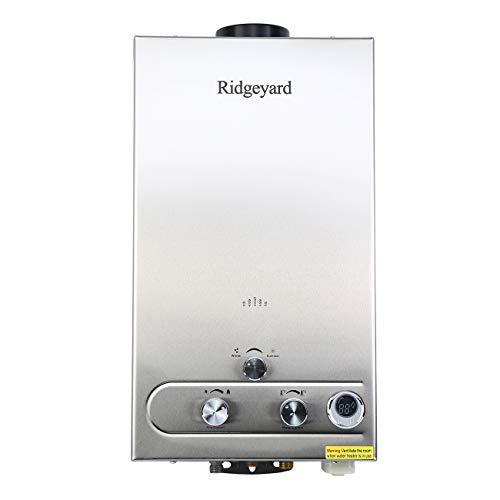 Ridgeyard 12L LPG 2800Pa PROPANE Durchlauferhitzer 24KW Badduschekopf Warmwasserspeicher