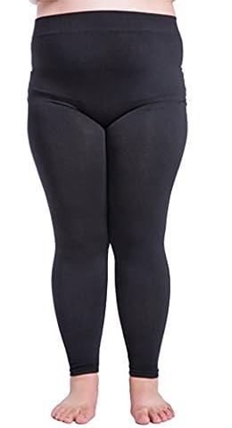 DD.UP Damen Modal Lightweight Übergröße Leggings blickdicht Hosen