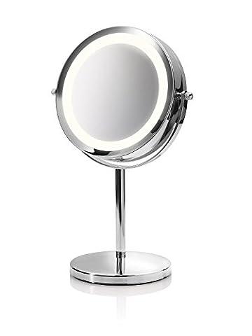 Medisana CM 840 Kosmetikspiegel mit LED Beleuchtung, normal und 5-fache