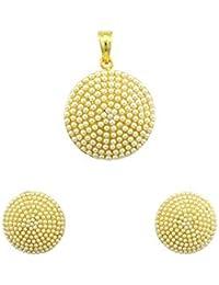 Pearl White Traditional Rajwadi Pendant Set Jewellery For Women - Orniza