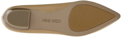 Nine West balletto di cuoio Timewarp piatto Lt Natur