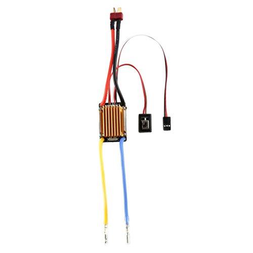 MagiDeal 3s 60A Brushed ESC Speed Control Fahrregler für 1/10 RC Auto Boot, Wasserdicht (Rc Car Speed Control)