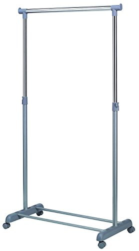 PEGANE Portant Gris en PVC, 86x44x167cm