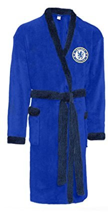 New Official Chelsea FC Soft Fleece Football Dressing Gown Bath Robe Nightwear Blue Mens Test