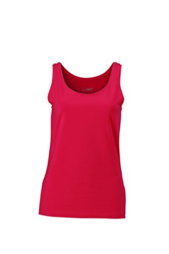 JAMES & NICHOLSON Klassiches Tank-Top Magenta