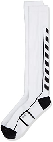 Hummel Socken TECH INDOOR Socks HIGH, White/Black, 12 (41-45), 21-075-9124