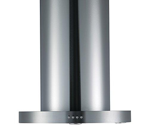 31OPO1wGiRL - Cookology TUB350SS 60cm Tubular Island Cooker Hood - Stainless steel 750m3/hr