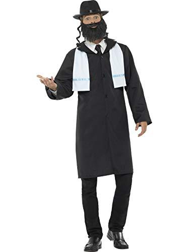 ner Kostüm, Jacke, Schal, Hut und Bart, Größe: M, 44689 ()