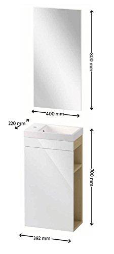 Gäste WC Badmöbel Set WT Waschbecken Bild 3*