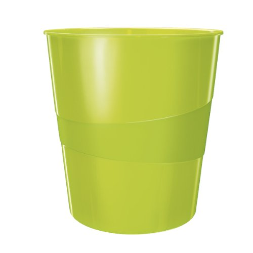 Leitz Papierkorb, 15 Liter, Kunststoff, Grün Metallic, WOW, 52781064