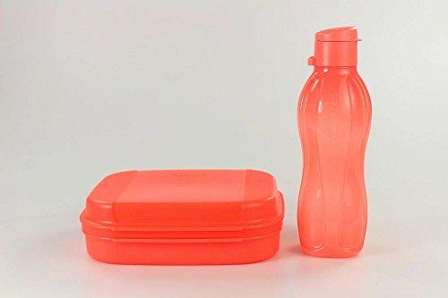 tupperware-naschkatzchen-900ml-bellevue-eco-500-ml-trinkflasche-oko-neon-orange