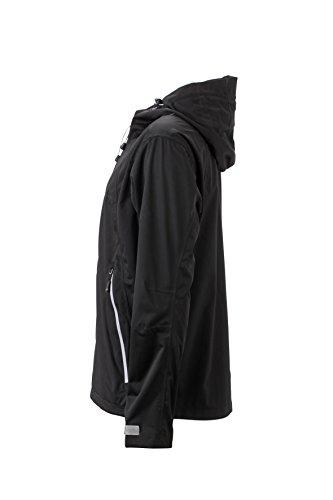 James & Nicholson Herren Outdoor Jacket Jacke Schwarz (Black/Silver)