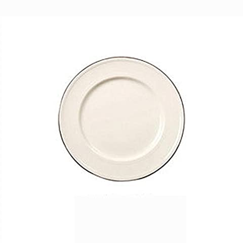disc Shallow soup plate fruit dish Steak plate Salad plate ceramics Coffee color tableware Glaze Creative Simple fashion Home Hotel restaurant 10 inches(Batch of