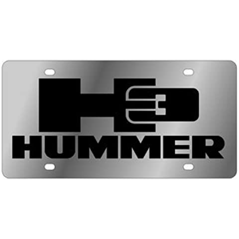 Eurosport Daytona 1626-1 Stainless Steel Hummer H3 License Plate by Eurosport Daytona